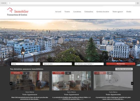 Create a site for a real estate agency