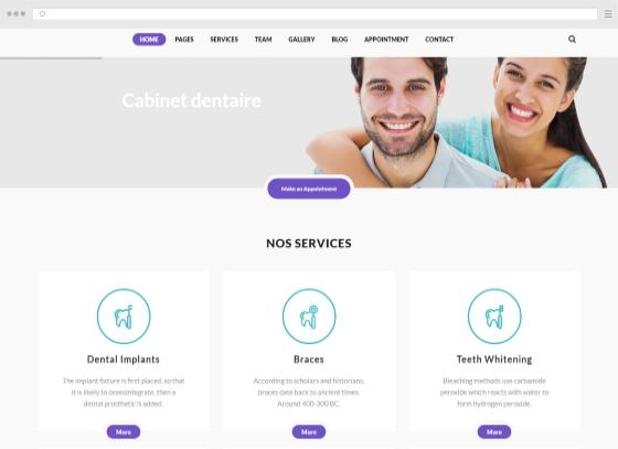 Create a website for dentist