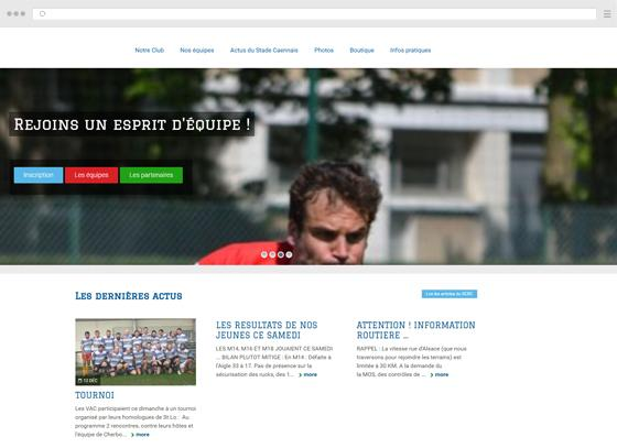 create a site for a rugby club