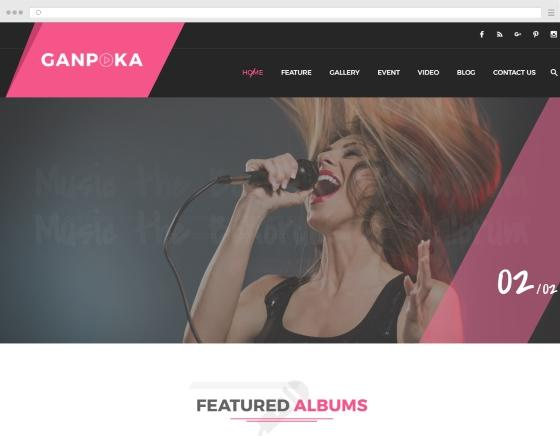 Create a website/ portfolio for singer