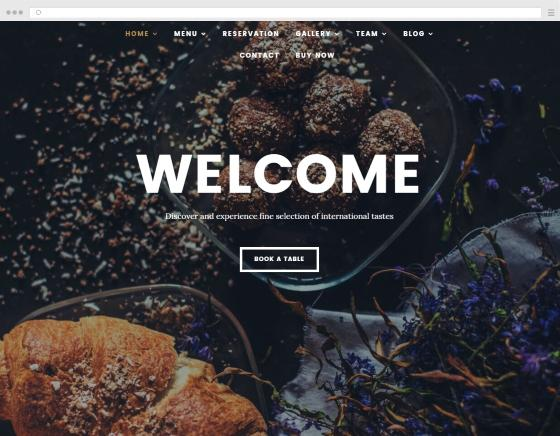 How to create a website catering