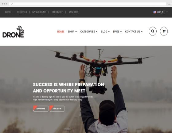 Create and design a website for a drone pilot